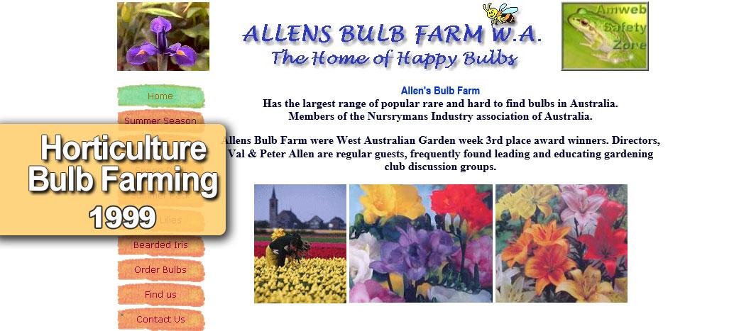 Allens Bulb Farm  Web site Developer busyliz.com