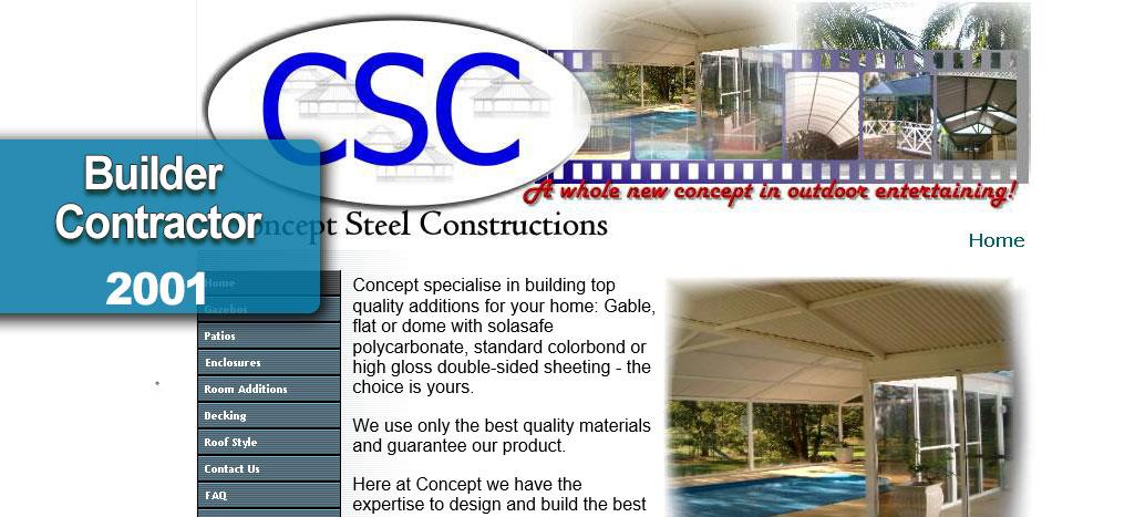 Concept Steel Constructions Perth Web site Developer busyliz.com