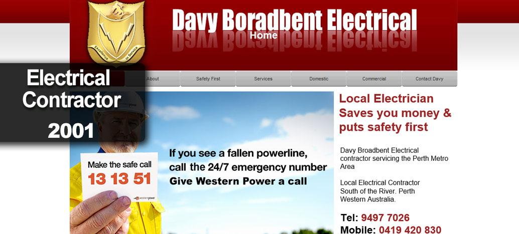 Davy Broadbent Electrical Perth Web site Developer busyliz.com
