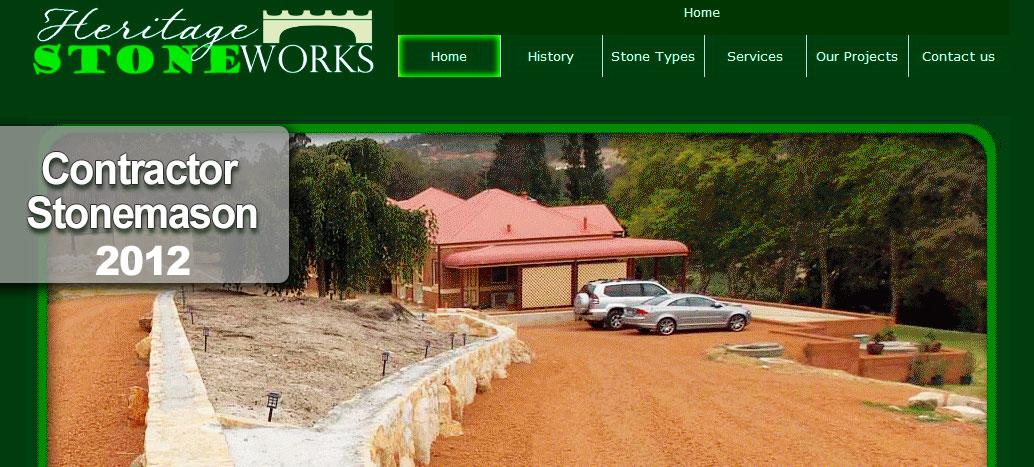 Heritige Stone works  Web Site by busyliz.com