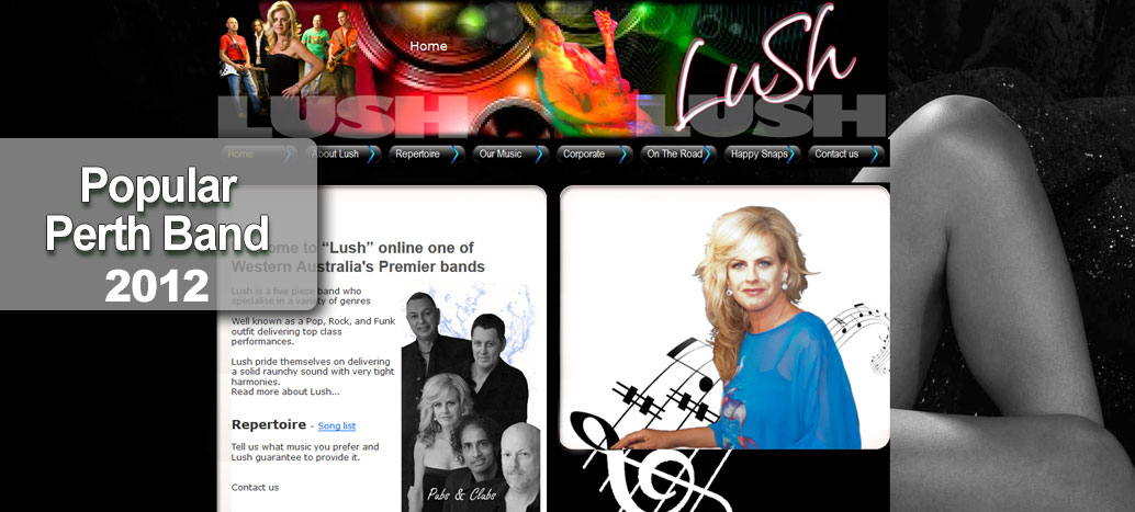 Lush Perth Band - Perth Web Site busyliz.com