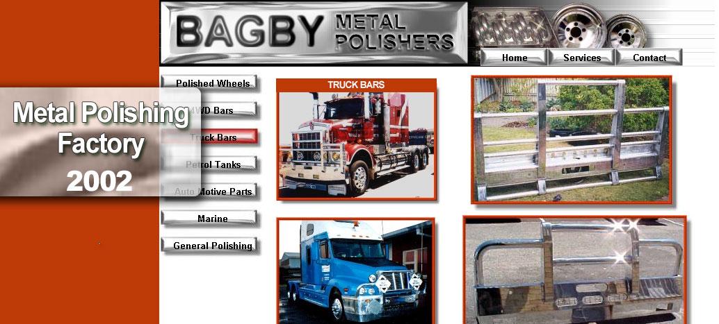 Bagby Metal Polishers  Web Site by busyliz.com