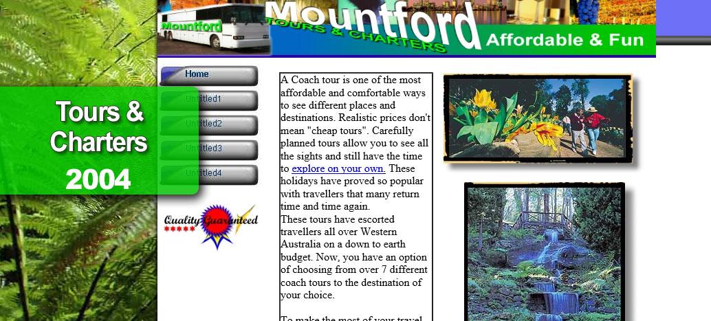 Mountford Celebrity Tours Web site by busyliz.com