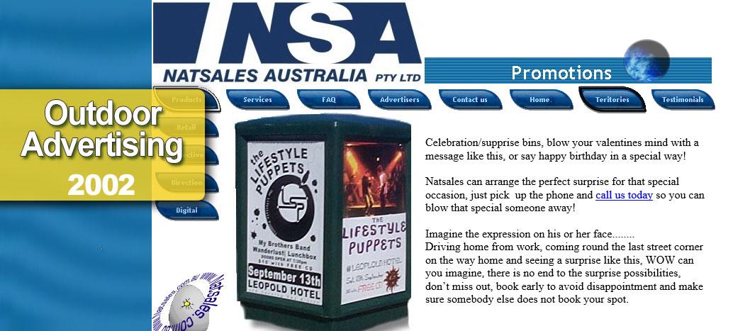 Natsales Australia PTY LTD  Web site by busyliz.com