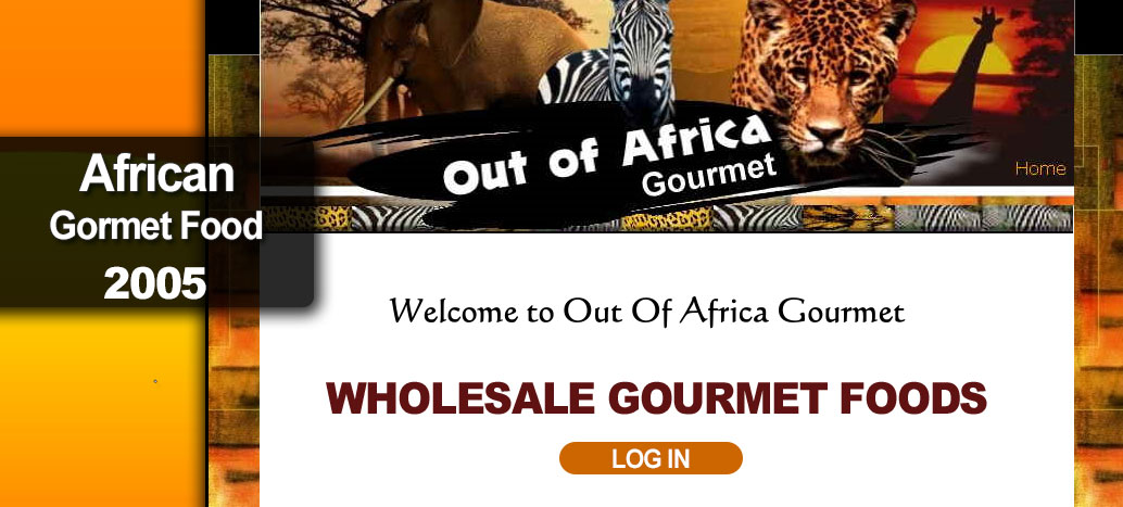 Out of Africa Gourmet  Web Site by busyliz.com