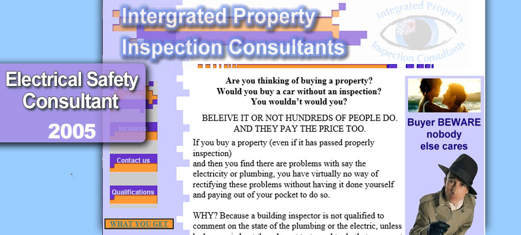 Intergrated Property Inspection Consultants Perth Web Site by busyliz.com