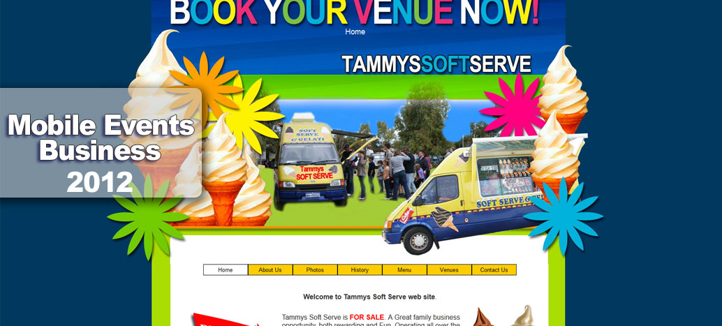 Tammy's Soft Serve  Web Site by busyliz.com