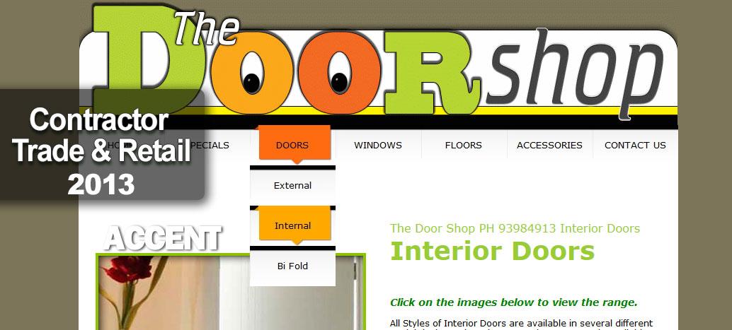 The Door Shop Web Site by busyliz.com