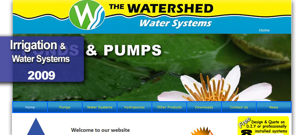 The Watershed Water Systems Web Site by busyliz.com